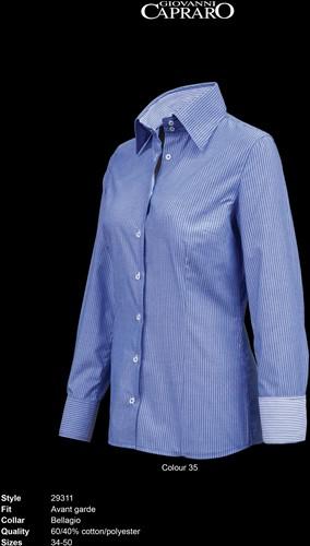 Giovanni Capraro 29311-35 Blouse - Blauw gestreept [Blauw accent]
