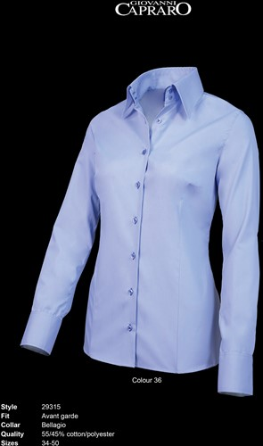 Giovanni Capraro 29315-36 Blouse - Licht Blauw [Blauw accent]