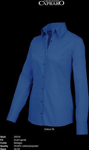 Giovanni Capraro 29316-55 Blouse - Donker Blauw [Groen accent]
