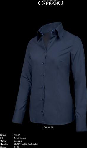 Giovanni Capraro 29317-36 Blouse - Navy [Blauw accent]