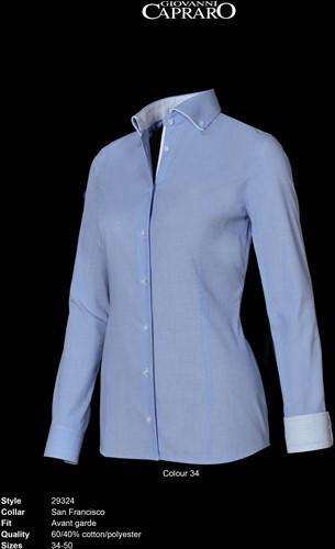 Giovanni Capraro 29324-34 Blouse - Licht Blauw [Wit accent]