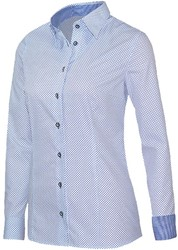 Giovanni Capraro 29337-38 Blouse - Wit [Donker Blauw accent]