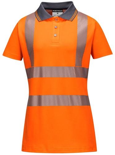 Portwest LW72 Hi-Vis Ladies Pro Polo Shirt