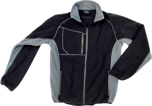 Excess 211 Fleece jack Champ-XXL-Zwart/Grijs