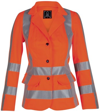 Havep High Visibility Dames korte jas-36-Fluo Oranje