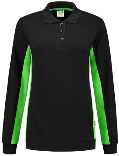 Tricorp 302002 Polosweater Bicolor Dames -XS-Zwart/Lime