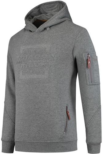 Tricorp Sweater Premium Capuchon Logo-XS-Steen/Mêlee