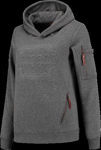 Tricorp 304007 Sweater Premium Capuchon Logo Dames-XS-Steen/Melange