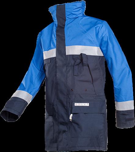 Sioen Duffel Vlamvertragende en Antistatische Regenparka-S-Marine/Koningsblauw