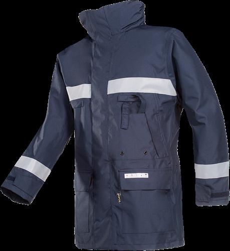 Sioen Hasnon Vlamvertragende en Antistatische Regenparka-XS-Marineblauw