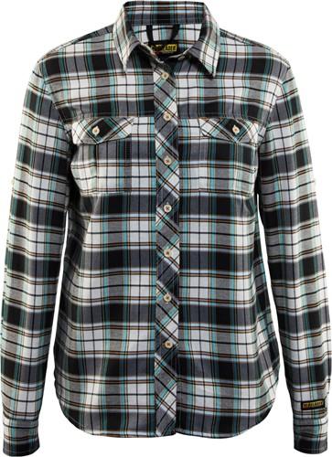 Blaklader 32091136 Dames Overhemd Flanel Zwar- t/Off-White