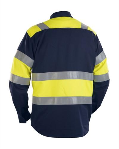 Blaklader 32281515 FR Overhemd High Vis Navy/Geel-2