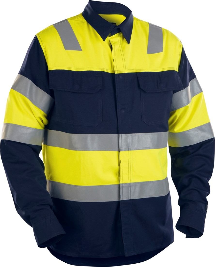 Geel Overhemd.Blaklader 32281515 Fr Overhemd High Vis Navy Geel Workwear4all