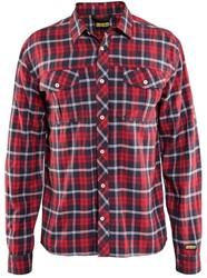 Blaklader 32991138 Overhemd Rood/Navy