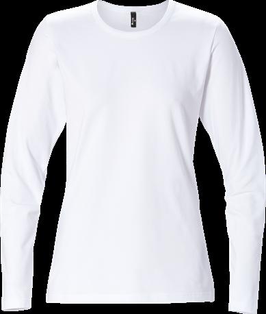 Acode Dames T-shirt met lange mouwen-Wit-XS