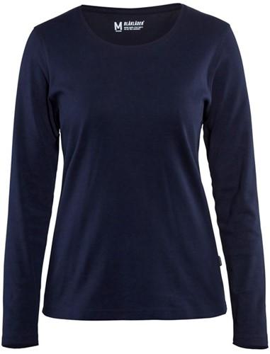 Blaklader 33011032 Dames T-shirt met lange mouw-XS-Marineblauw