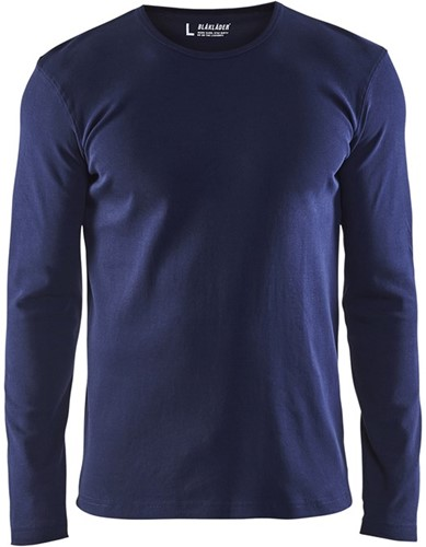 Blaklader 33141032 T-shirt lange mouw-XS-Marineblauw
