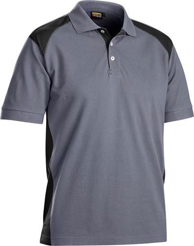 Blaklader 33241050 Poloshirt Piqué-Grijs/Zwart-XXS-1