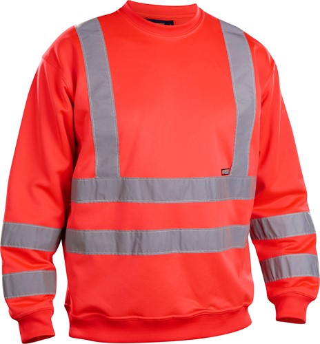 Blaklader 33411974 Sweatshirt High Vis-XXS-Fluor Rood