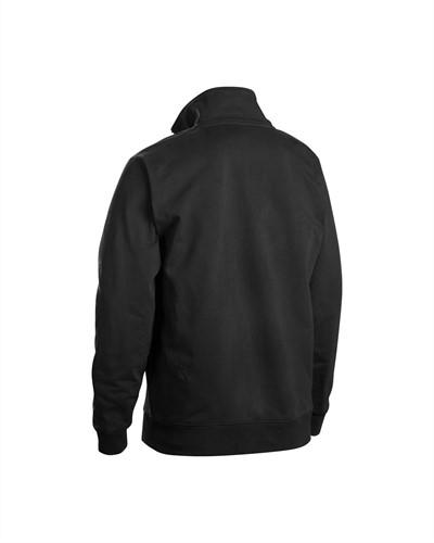 Blaklader 33531158 Sweatshirt Bi-Colour met halve rits-XS-Zwart/Grijs-2