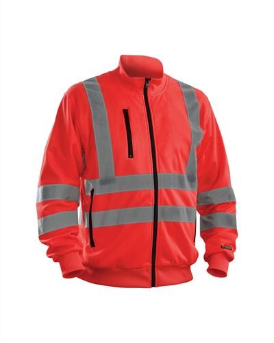 Blaklader 33581974 Sweatshirt High Vis-XXS-Fluor Rood