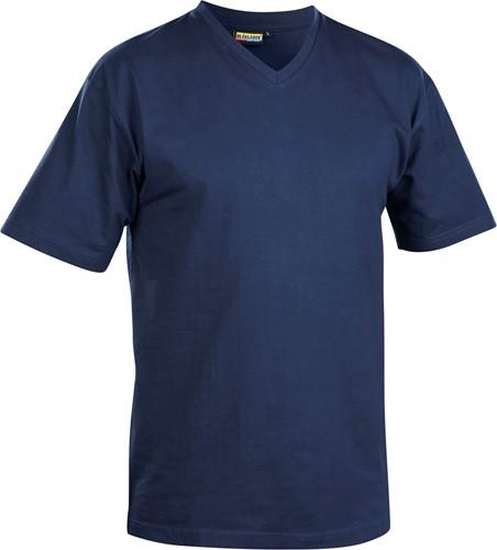Blaklader 33601165 T-Shirt, V-hals-S-Marineblauw