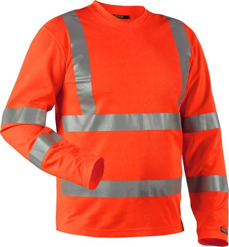 Blaklader 33811070 T-shirt High Vis lange mouw UPF 40+ UV-Oranje-XS