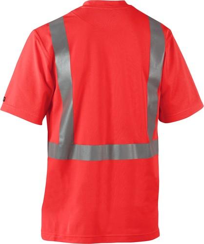 Blaklader 33821011 T-shirt High Vis-XXS-Fluor Rood-2
