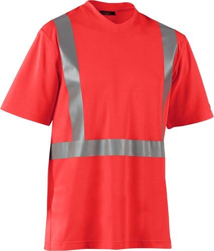 Blaklader 33821011 T-shirt High Vis-XXS-Fluor Rood-1