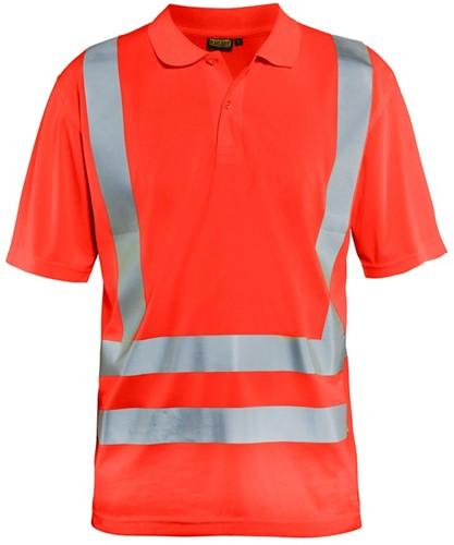 Blaklader 33911011 Poloshirt High Vis-XS-Fluor Rood
