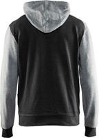Blaklader 33991157 Hooded Sweatshirt-XS-Zwart melange/Grijs-2