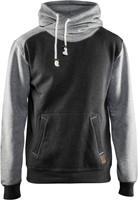 Blaklader 33991157 Hooded Sweatshirt-XS-Zwart melange/Grijs-1