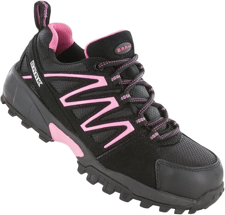 Dames Werkschoenen.Baak Dames Veiligheidsschoen Silvy 3425 S1p Zwart Roze