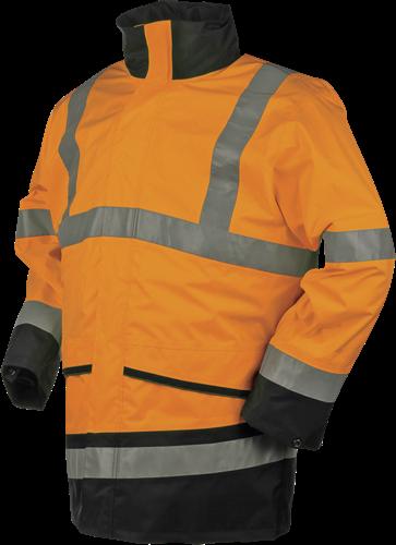 Sioen Barcley Signalisatie Regenjas-S-Fluo Oranje/Marine