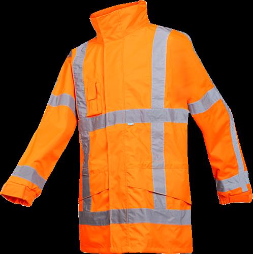 SALE! Sioen Boorne Signalisatie Regenjas (RWS) - Fluo Oranje - Maat L