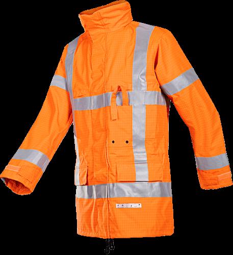 Sioen Tiel Vlamvertragende en Antistatische Signalisatie Regenjas (RWS)-S-Fluo Oranje
