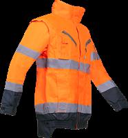 Sioen Campbell Signalisatie Winterblouson met uitritsbare mouwen-S-Fluo Oranje/Marine-2