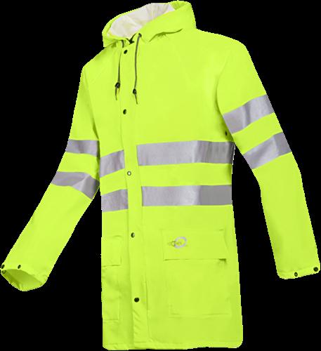 Sioen Unzen (HV Yellow) Signalisatie Regenjas-S-Fluo Geel