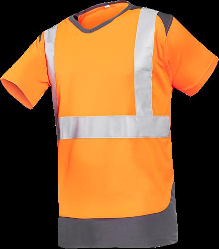 Sioen Cortic Signalisatie T-shirt-S-Fluo Oranje/Antraciet