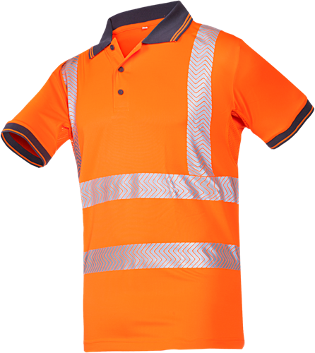 Sioen Tiola Signalisatie Polo-S-Fluo Oranje-2