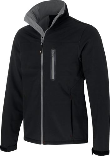 JMP Bolivia softshell jas-Zwart-S