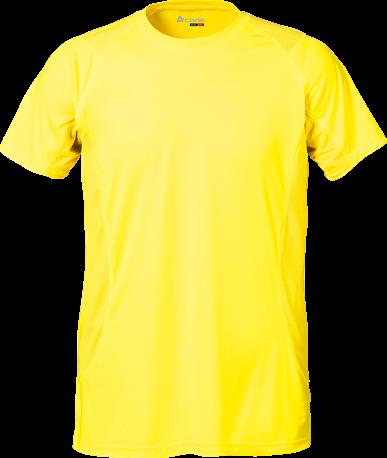 Acode Heren Coolpass T-shirt-S-Lichtgeel