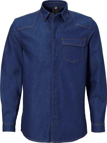 JMP Adwa vlamvertragend overhemd-S-Denim blauw