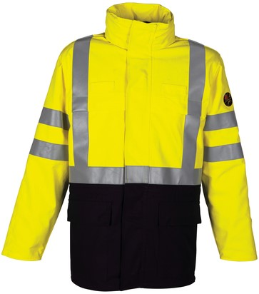Havep Multi Protector Parka-S-Marine/fluo geel