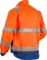 Blaklader 40231804 Jack. Ongevoerd High Vis-XS-Oranje/Korenblauw