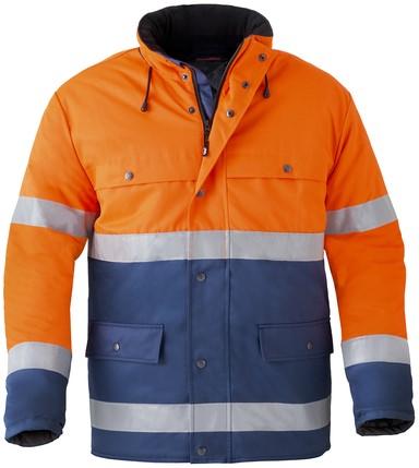 Havep High Visibility Korte parka-Marineblauw/fluo oranje--3XL