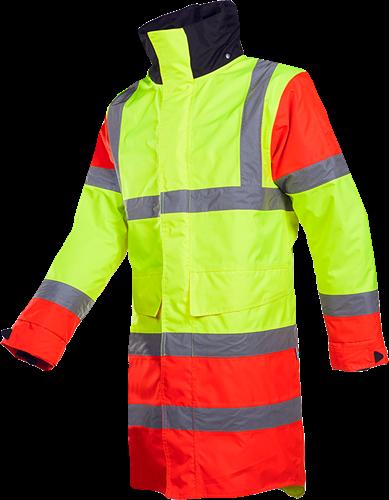 Sioen Thoras Signalisatie Regenparka-S-Fluo Geel/Fluo Rood/Zwart