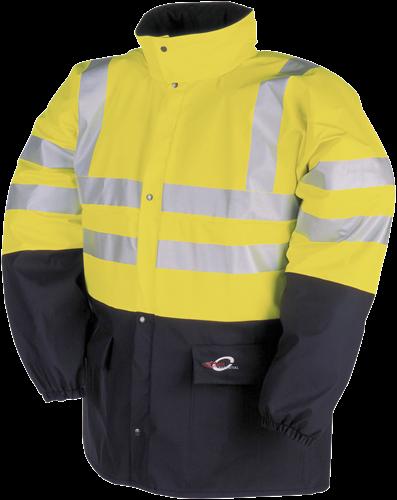 Sioen Carmaux Signalisatie Regenjas-S-Fluo Geel/Marine