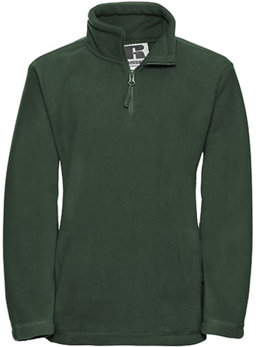 Russell - Children's Quarter Zip Outdoor Fleece - 320 grams - 104 - Bottle Green