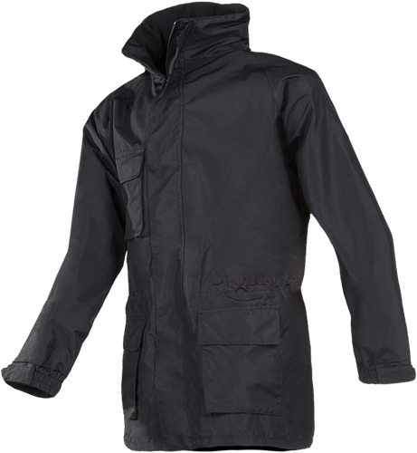 Sioen Rowe 3 in 1 regenjas met uitneembare softshell Jas-Zwart-S